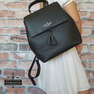 Kate spade medium Hayes flap backpack black bag